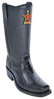 KA5670 Ostrich Leg Liquid Jet Black Authentic Los altos