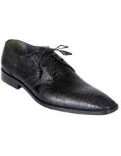 JSM-4582 Genuine Black Teju Lizard Oxfords Dress Los Altos