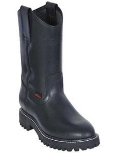 KA2201 Work BOOTS Liquid Jet Black Round Toe Leather