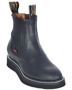KA5550 Work BOOTS Liquid Jet Black Round Toe Leather