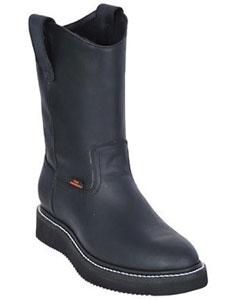 KA1070 Work BOOTS Liquid Jet Black Round Toe Leather