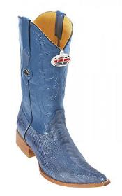 KA0369 Handmade Ostrich Leg Blue Jean Authentic Los altos