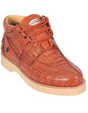 JSM-4589 Genuine COGNAC Full Caiman Crocodile Casual Los Altos
