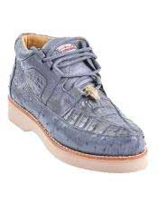 JSM-4585 Genuine GRAY Caiman Crocodile Ostrich Casual Los Altos