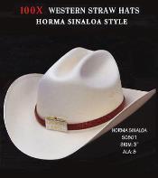 PN90 Cowboy Western 100X Premium Straw Hat Grey ~