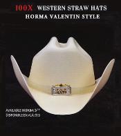 PN92 Cowboy Western 100x Premium Straw Hat Gray By