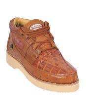 JSM-4592 Genuine COGNAC Caiman Crocodile Ostrich Casual Los Altos
