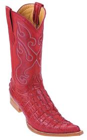 KA8732 Croc Tail Print Riding red color shade Authentic