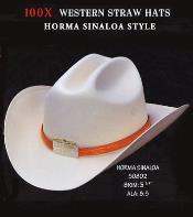 PN94 Cowboy Western 100X Premium Straw Hat Silver Belly