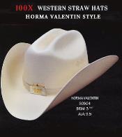 PN88 Cowboy Western 100X Premium Straw Hat By Authentic
