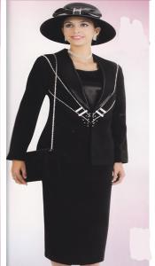 KA6117 Lynda Couture Promotional Ladies Suits- Liquid Jet Black