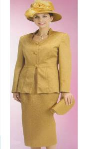 KA6109 Lynda Couture Promotional Ladies Suits- Gold