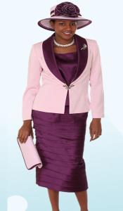 KA6104 Lynda Couture Promotional Ladies Suits- Purple color shade