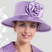 HA-11 New Lyndas Wo Lavender Kentucky Derby Hat Brim