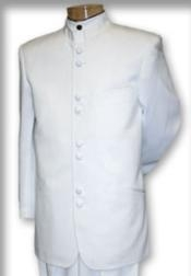 QSP697 Best Quality no collar mandarin Collar White no