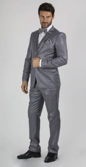 RM1625 Medium Grey 2 Button Style Suit