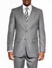 mens Medium Grey 3 piece
