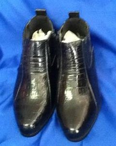 KA5611 Two Tone Shoes for Online Liquid Jet Black