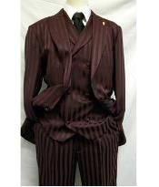 MK425 Falcone Brand Burgundy Shiny Flashy Stripe ~ Pinstripe