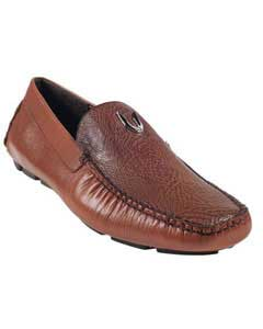 KA6696 Cognac Genuine Shark Driver Vestigium Driving Shoes for