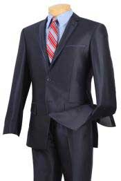 Mens Sharkskin Suits Slim narrow Style