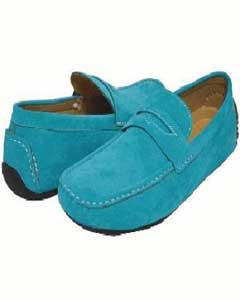 QY38L Turquoise Driving Shoes-