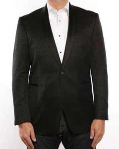 1 Button Style Shawl Collar