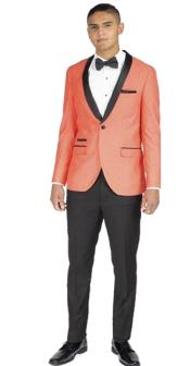 Mens 1 Button Coral Slim