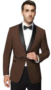 Mens 1 Button Shawl Lapel