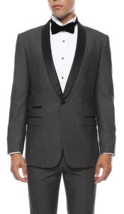 RM1703 Reno 1-Button Shawl Slim narrow Style Fit Tuxedo