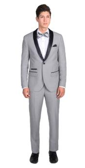 Product#GD1782Mens1ButtonLightGraySlimFitTuxedo