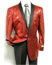 SS-74 1 Button Style red color shade Sequin Entertainer