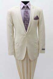 SS84 1 Single Button Suit Peak Lapel Slim narrow