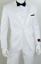SW944 Vittorio StAngelo 1-Button Slim narrow Style Tuxedo White