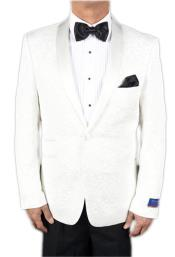 AP645 Mens Super 150s Viscose Blend 1 Button White