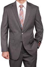 Grey Stripe ~ Pinstripe 2-button