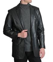 Excelled Notched lapel Lamb Leather
