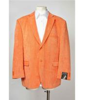 Two Button Notch Lapel Orange