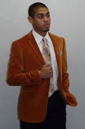 RM1438 Adolfo Two Button Entertainer Clubing sport Coat Orange