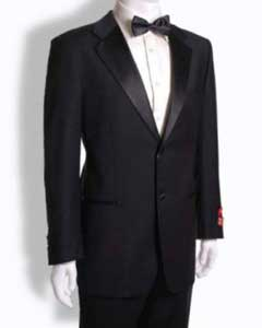 RM1513 Mantoni 2 Button Style Tuxedo Notched Lapel Wool