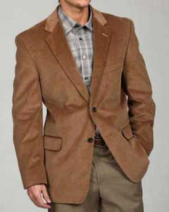 Tan khaki Color Two Button