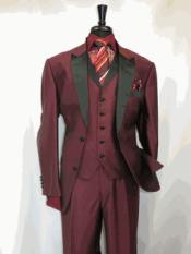 RA21 Suit 2 Button Style Single Breasted Peak Sateen