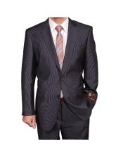 TR2323 Gray Micro-Stripe ~ Pinstripe 2-button cheap discounted Suit