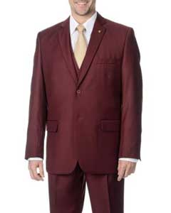 3-piece 2-button Vested Suit Clearance