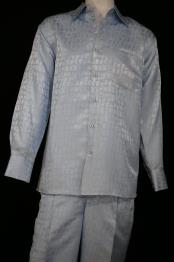 mens Crocodilian Scale Pattern Aquamarine
