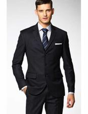 Mens 3 Button Fitted Slim
