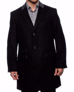 Mens Overcoat Wool Fabric Single
