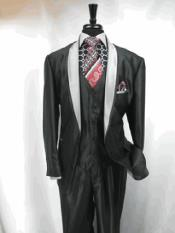 RA20 3 Button Style Two Toned Tuxedo Single Breasted