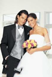 QY35L Big and Tall or Extra Long Grey Tuxedo