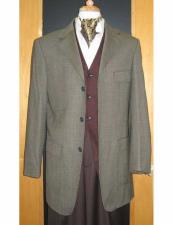 JSM-1835 Testardi Brand 3 Buttons Checker Pattern 95% Wool5%